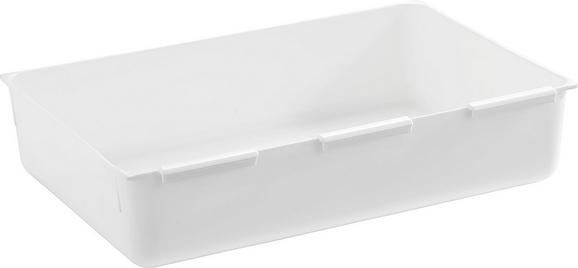 Schubladenbox Wanda in Weiß, ca. 14,9x22,4cm - Weiß, Kunststoff (14,9/22,4cm)