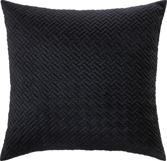 Zierkissen Stefanie, ca. 45x45cm - Schwarz, MODERN, Textil (45/45cm) - Premium Living