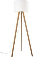 Stehleuchte Larissa - Chromfarben/Eschefarben, Holz/Textil (45/163cm) - Mömax modern living