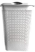 Wäschetonne Rita in Weiß, ca. 40/30/52cm - Weiß, Kunststoff (40/30/52cm) - Mömax modern living