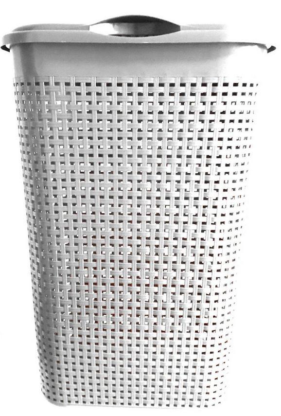 Wäschetonne Rita Weiß ca. 40/30/52cm - Weiß, Kunststoff (40/30/52cm) - Mömax modern living