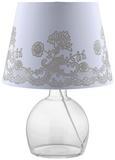 Leuchtenschirm Camilla Weiß max. 60 Watt - Weiß, ROMANTIK / LANDHAUS, Textil/Metall (25-35/25cm) - Mömax modern living
