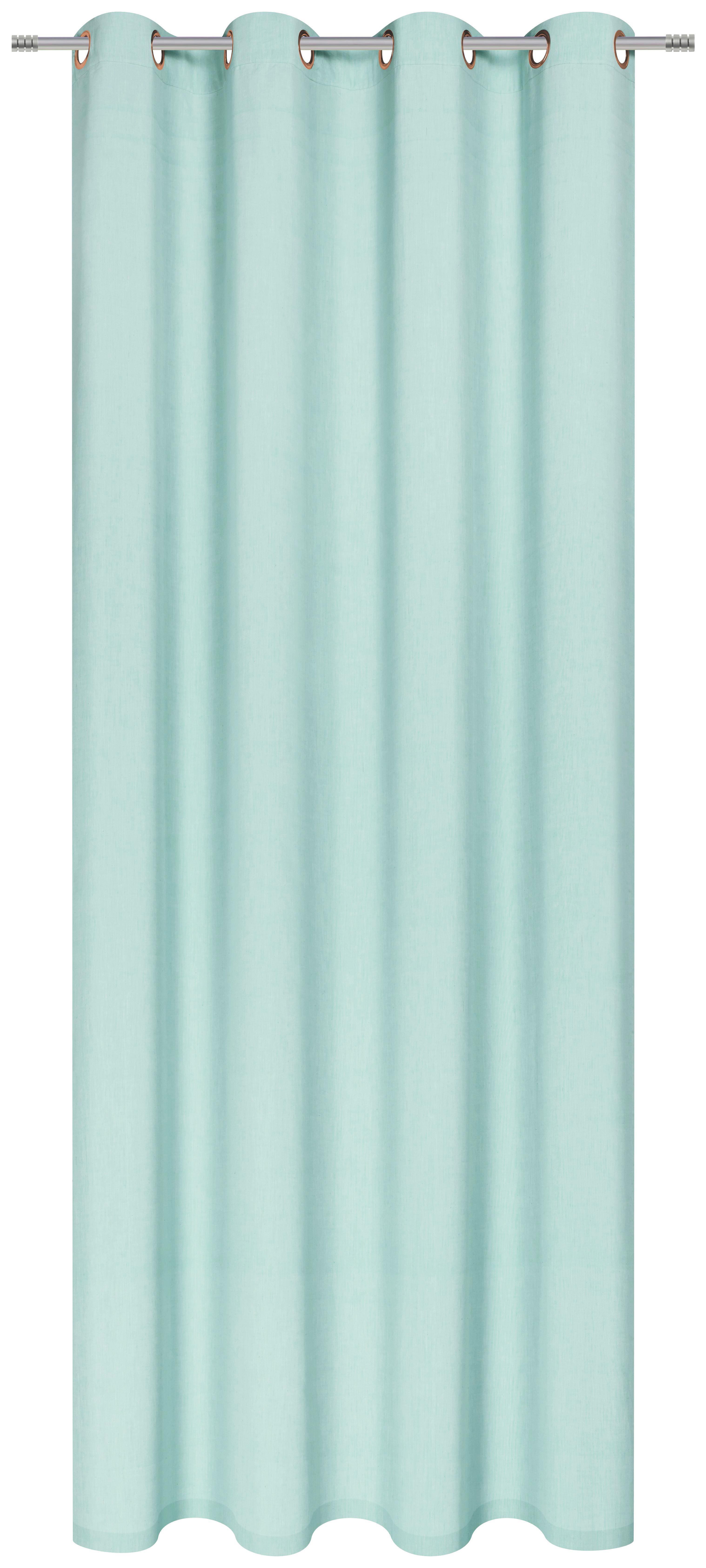 Készfüggöny Noah - türkiz, romantikus/Landhaus, textil (140/250cm) - MÖMAX modern living
