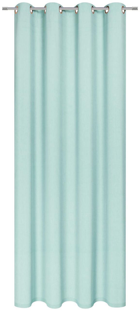 Zavesa Z Obročki Noah - 2-delni Set - turkizna, Romantika, tekstil (140/250cm) - Mömax modern living