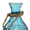 Dekoflasche Sandro mit Led Ø/h ca. 10/28,5 cm - Blau, MODERN, Glas (10/28,5cm) - Mömax modern living