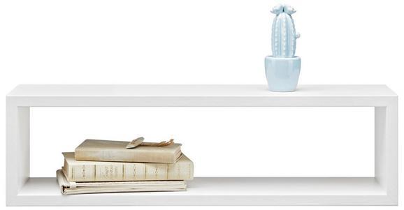 Stenski Regal Regolo -sb- - bela, Moderno, valoviti karton (60/17/15,5cm)