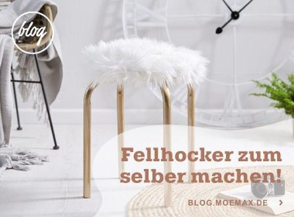 Stapelhocker in Weiß - Weiß, Textil/Metall (46/45cm) - MÖMAX modern living
