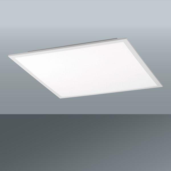 LED-Deckenleuchte Flat, 2400 Lumen - Weiß, MODERN, Kunststoff/Metall (45/45/5,6cm)
