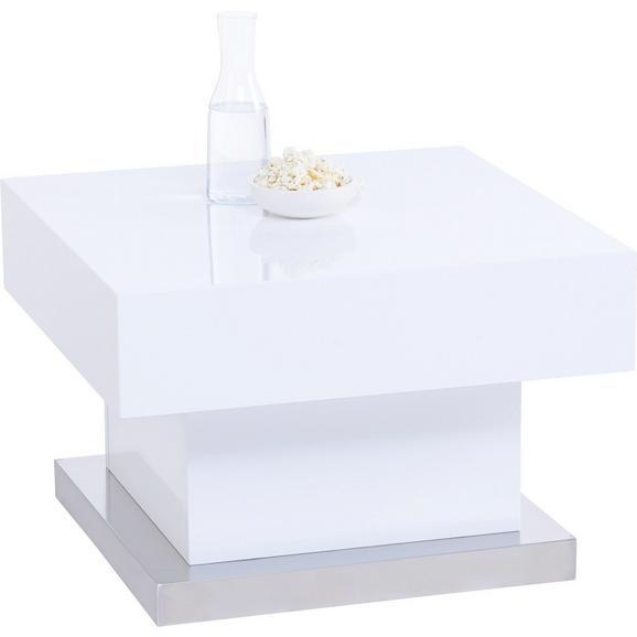 Couchtisch in Weiß Hochglanz - Weiß, MODERN, Holzwerkstoff/Metall (60/40/60cm) - Based