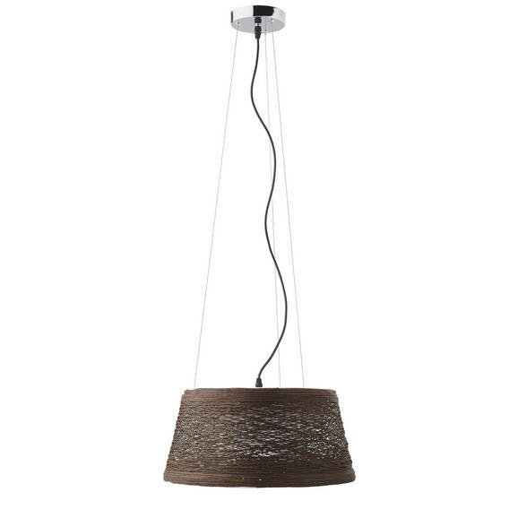 Hängeleuchte max. 25 Watt 'Rope' - Braun, MODERN, Kunststoff/Metall (40/22cm) - Bessagi Home