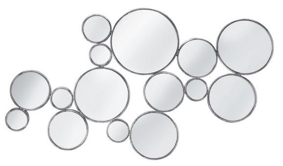 Wandspiegel Malena - Silberfarben, MODERN, Glas/Holzwerkstoff (63/105,5/2,5cm) - MÖMAX modern living