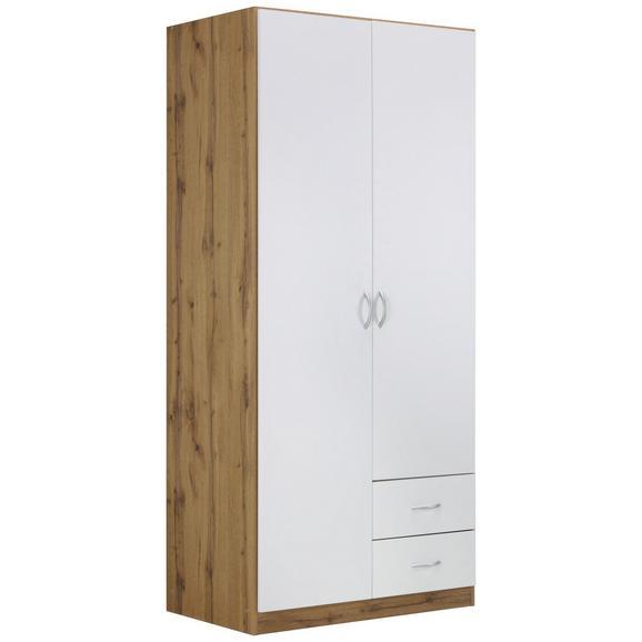 Ruhásszekrény Fehér-tölgy Szín Case - modern, Faalapú anyag (91/197/54cm) - Modern Living