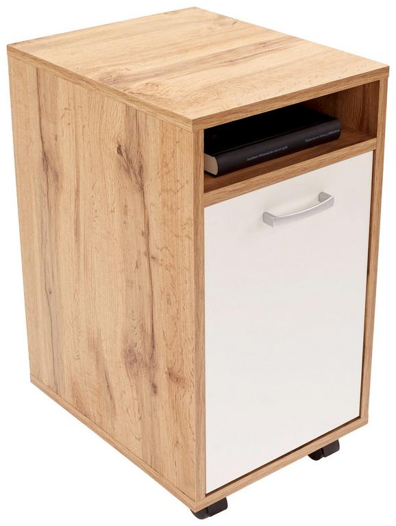 Predalnik Na Kolescih Laurenc - svetlo rjava/aluminij, Moderno, umetna masa (33/59,5/38cm) - Mömax modern living