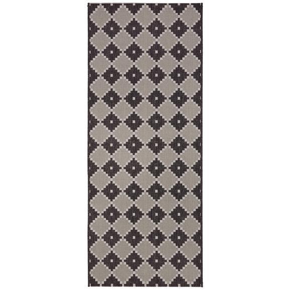 Flachwebeteppich Phoenix ca. 80x200cm - Anthrazit/Grau, MODERN, Textil (80/200cm) - Modern Living
