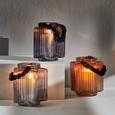 Windlicht Malin Ø/h ca. 14/16 cm - Hellgrau, MODERN, Glas (14/16cm) - Mömax modern living
