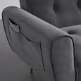 Schlafsofa Megan - Goldfarben/Grau, MODERN, Holz/Textil (209/83/83cm) - Bessagi Home