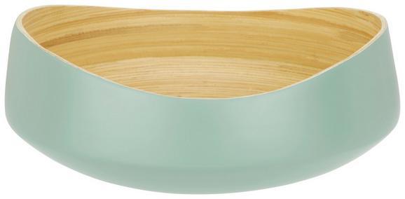Dekoschale in Mint/natur - Naturfarben/Mintgrün, LIFESTYLE, Holz (30/12cm) - Mömax modern living