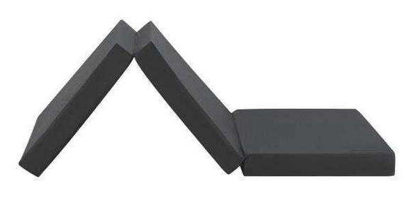 Faltmatratze Schwarz ca. 65x185cm - Schwarz, Textil (65/186cm)