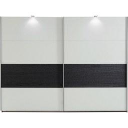Omara Z Drsnimi Vrati Bert - bela/hrast, Konvencionalno, leseni material/les (225/210/65cm) - Mömax modern living