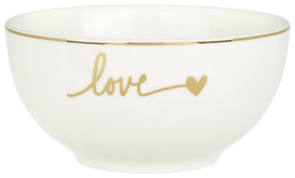 Müslischale Gloria aus Keramik Ø ca. 14cm - Goldfarben/Weiß, MODERN, Keramik (14/7cm) - Mömax modern living