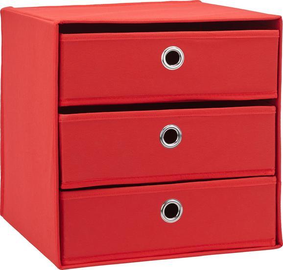 Predalnik Mona V Rdeči Barvi - rdeča, Moderno, kovina/karton (32/31,5/32cm) - Mömax modern living