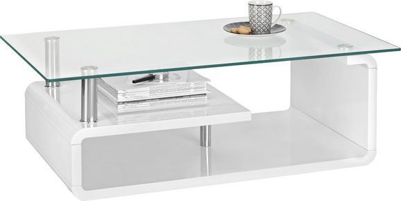 Couchtisch Weiß Hochglanz Glas - Weiß, MODERN, Glas/Holzwerkstoff (120/40/65cm) - premium living