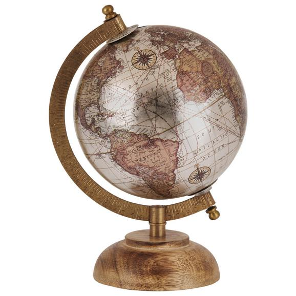 Globus Columbus - črna/krem, Konvencionalno, les (14/21,5cm)