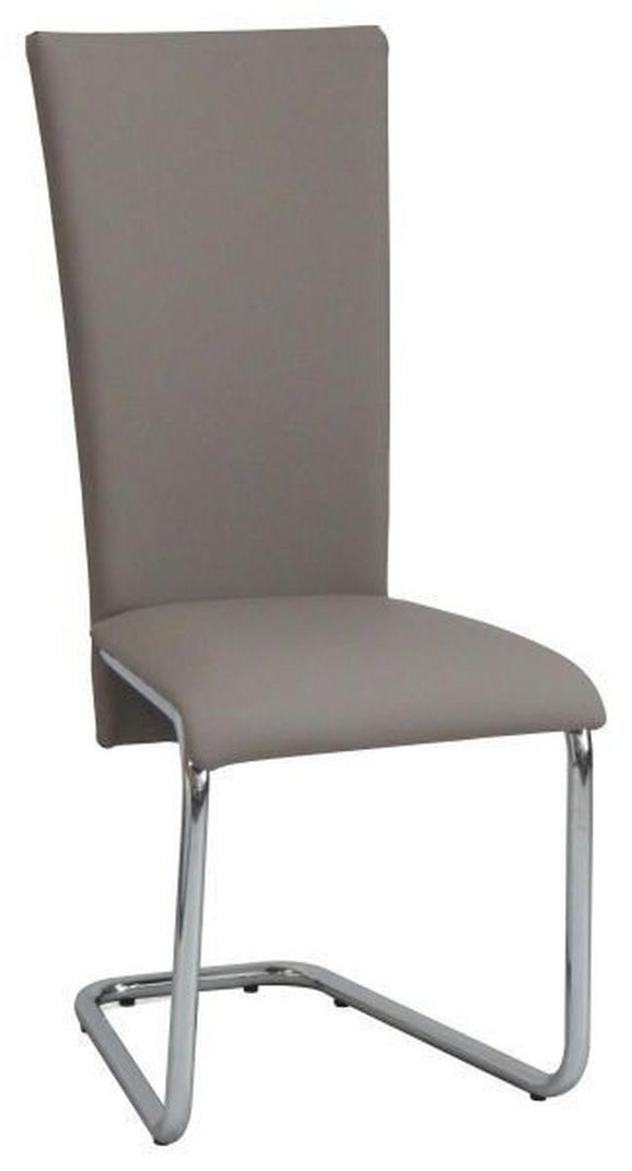 Schwingstuhl Schlammfarben - Braun, MODERN, Textil/Metall (43/101/59cm) - Mömax modern living