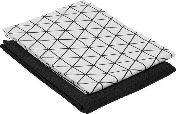 Geschirrtuch Kathi ca. 50x70cm - Schwarz, Textil (50/70cm) - Mömax modern living