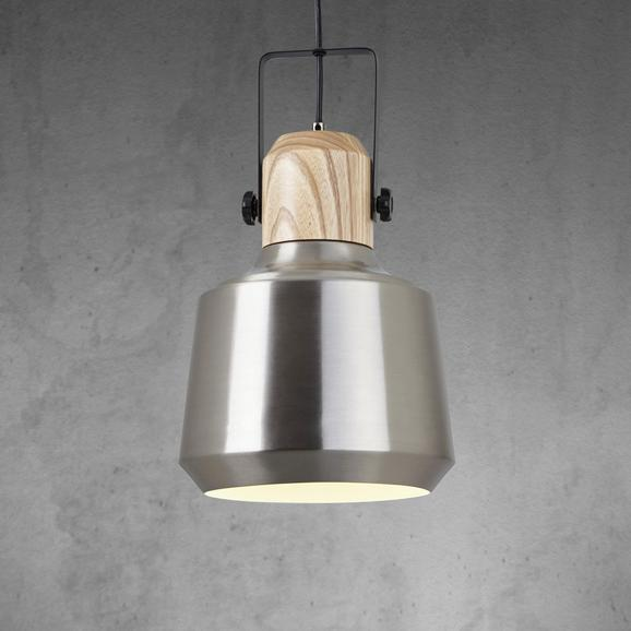 Pendelleuchte Vilma - Silberfarben, MODERN, Holz/Metall (24/100cm) - Mömax modern living