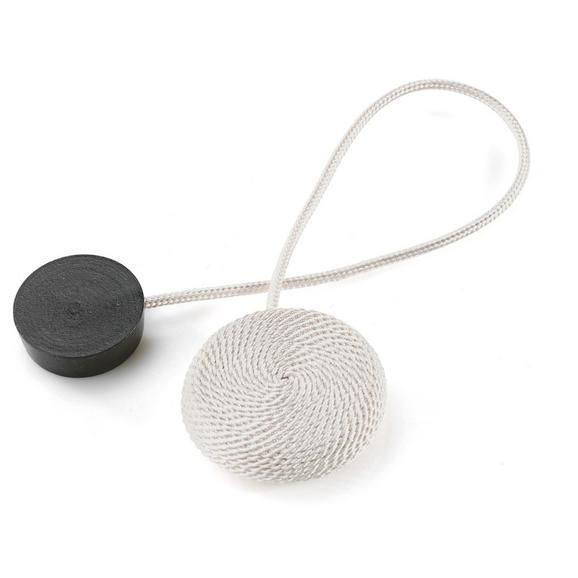 Dekoclip Jan in verschiedene Farben - Schwarz/Weiß, Textil (38cm) - Mömax modern living