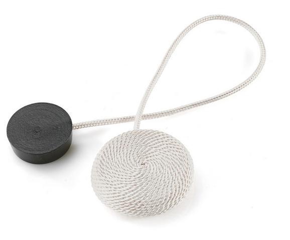 Dekoclip Jan in verschiedenen Farben - Schwarz/Weiß, Textil (38cm) - Mömax modern living