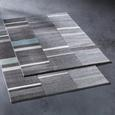 Webteppich Sofia Grau/Grün/Weiß 80x150cm - Weiß/Grau, Textil (80/150cm) - Mömax modern living