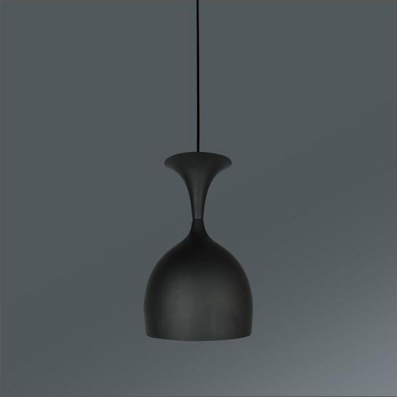 Hängeleuchte Wino, max. 40 Watt - Schwarz/Weiß, MODERN, Metall (16/125cm) - Mömax modern living