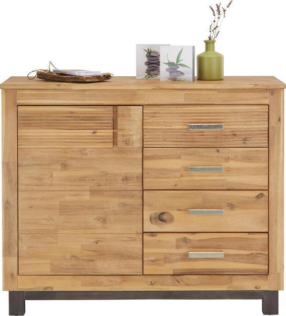 Komoda Aruba - siva/srebrna, Konvencionalno, kovina/leseni material (110/90/45cm) - Zandiara