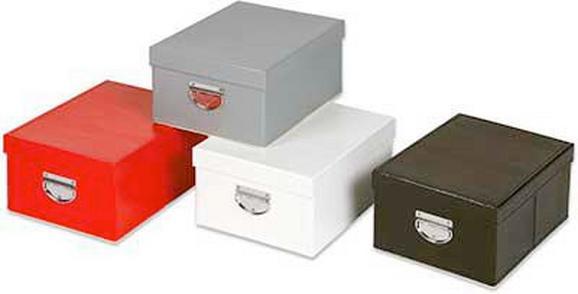 Tárolódoboz Tetővel - fekete/fehér, karton (35/26/16cm) - MÖMAX modern living