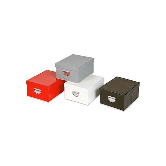 Tárolódoboz Tetővel - Szürke/Fehér, Karton (35/26/16cm) - Mömax modern living
