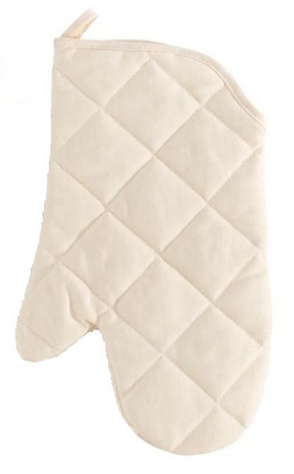 Kochhandschuh Evelin Natur Baumwolle - Grün, Textil (19/30cm) - MÖMAX modern living