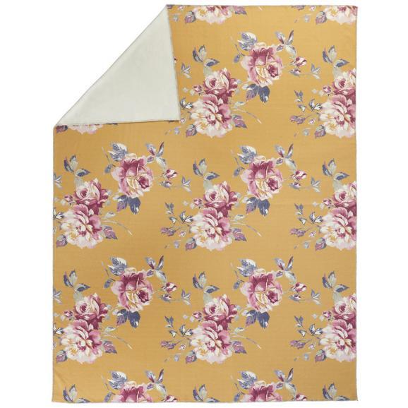 Kuscheldecke Benita ca. 150x200cm - Gelb, ROMANTIK / LANDHAUS, Textil (150/200cm) - Mömax modern living