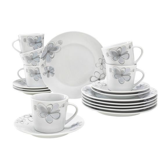 Serviciu De Cafea Kerstin - albastru/alb, Konventionell, ceramică - Based