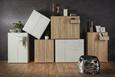 Sideboard Weiß - Alufarben/Weiß, MODERN, Holzwerkstoff/Kunststoff (106,2/86/34cm)