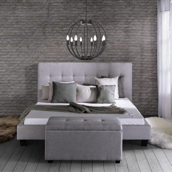 Bett Frederico ca.180x200cm - Hellgrau, MODERN, Holz/Textil (215/189/112cm) - Mömax modern living