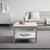 Couchtisch in Weiß ca.65x65cm 'Claudia Vintage' - Weiß, KONVENTIONELL, Holz (65/45/65cm) - Bessagi Home