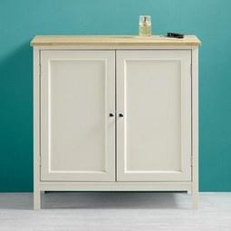 Unterschrank Jule - Fichtefarben/Weiß, MODERN, Holz/Metall (69/68/38cm) - MODERN LIVING