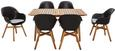 Loungegarnitur Stockholm Aus Massiv Holz - Schwarz/Naturfarben, Holz/Kunststoff - Zandiara