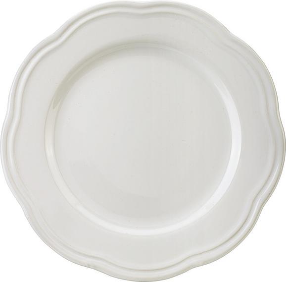 Dessertteller Ashley in Weiß - Weiß, ROMANTIK / LANDHAUS, Keramik (21,5cm) - Mömax modern living