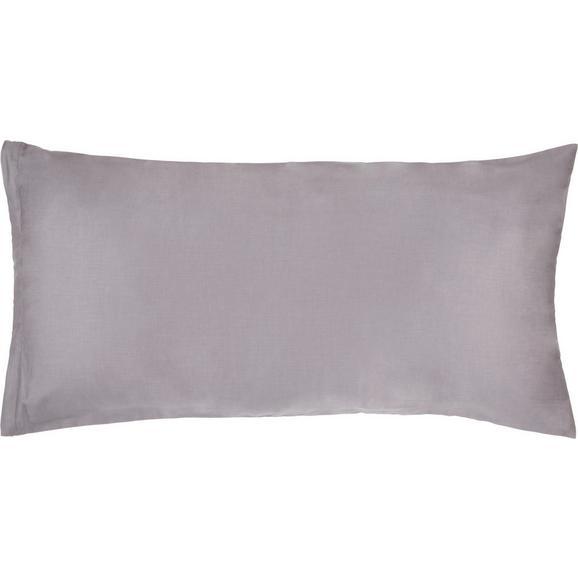 Kissenhülle Belinda, ca. 40x80cm - Anthrazit/Hellgrau, Textil (40/80cm) - Premium Living