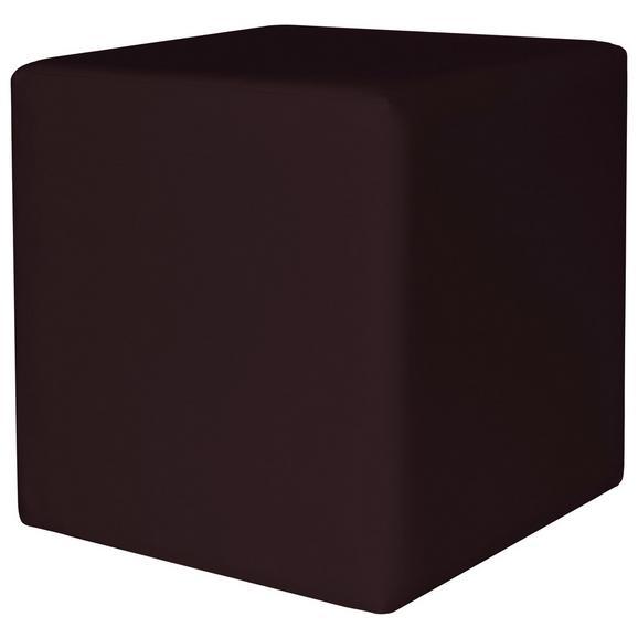 Taburet Colorfull Cube - negru, Modern, textil (40/40/42cm)
