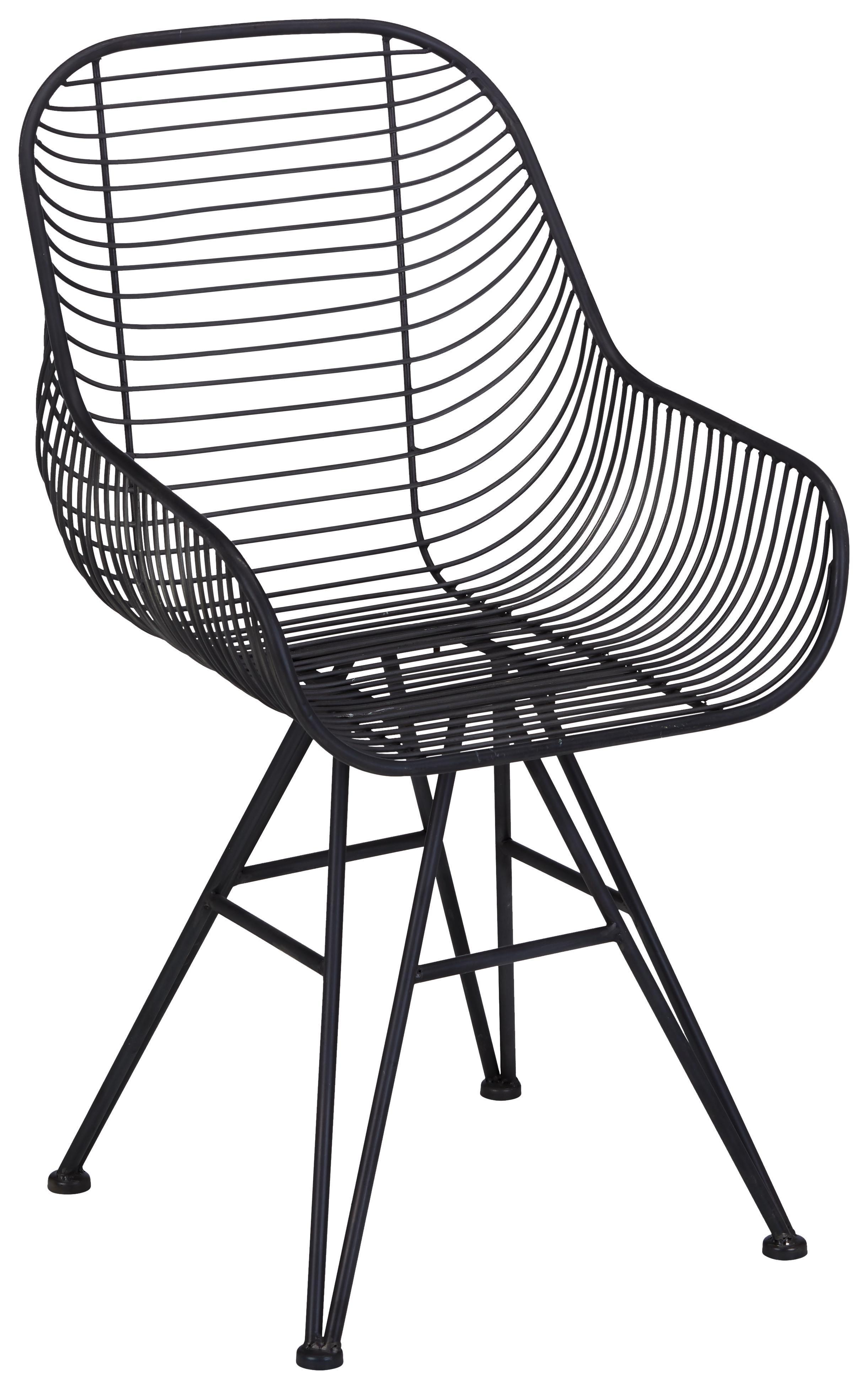 stuhl in schwarz aus metall online kaufen m max. Black Bedroom Furniture Sets. Home Design Ideas
