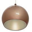 Pendelleuchte Alex mit Led - Goldfarben/Kupferfarben, MODERN, Kunststoff/Metall (25/25/120cm) - Premium Living